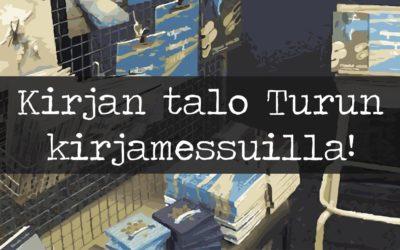 Kirjan talo Turun kirjamessuilla // osasto A65